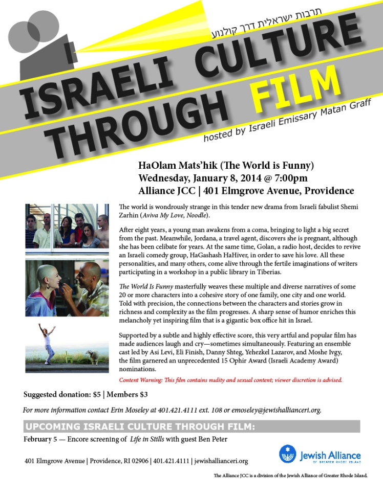 Israeli Culture Through Film_Jan 2014